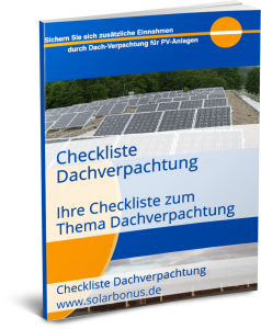 Checkliste Dachverpachtung